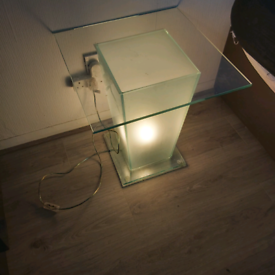 Art deco lighting side table