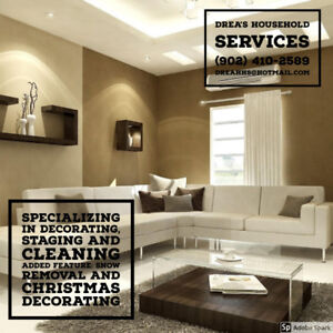 Cleaning, Organizing,Decorating and Gardens (Yard clean up)