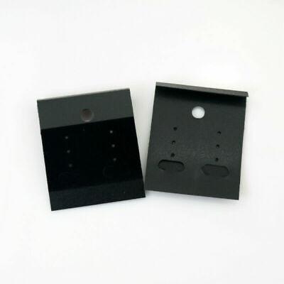 100 Pcs Black Velvet Jewelry Earring Display Hanging Cards Flocked Hot