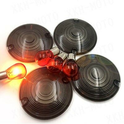 Turn signal lights Smoke Lens new Fit For Harley Davidson Heritage Softail