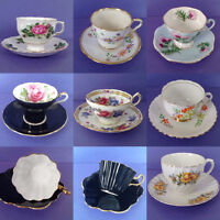Lot of 8 damaged teacups for craft projects