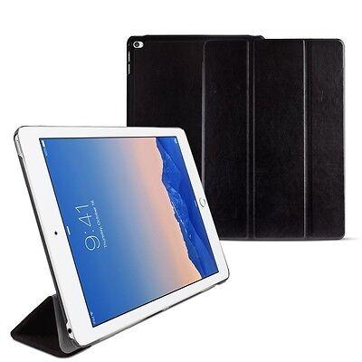 eFabrik Apple iPad Air 2 Hülle Smart Cover Schutz Tasche Leder-Optik Schwarz Schwarz Leder Ipad Air Cover