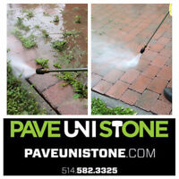 PAVE UNI STONE - INTERLOCK WEST ISLAND - RE LEVEL & CLEANING