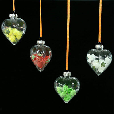 Plastic Hanging Ball Clear Baubles Xmas Party Home Christmas Ornaments Gifts Hot ()