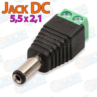 Adaptador alimentacion conector Jack 5,5x2,1 DC - Macho - Lote 1 unidad...