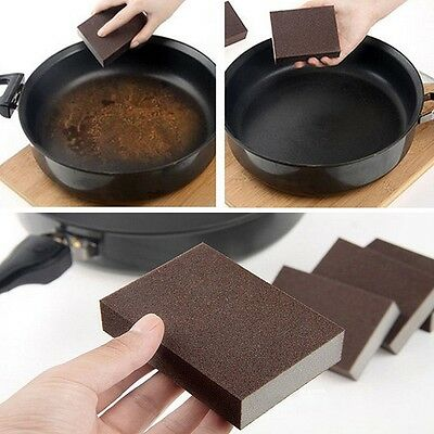 Cleaning Sponge Carborundum Brush Dish Wash Clean Pad Rust Remover Kitchen Tool