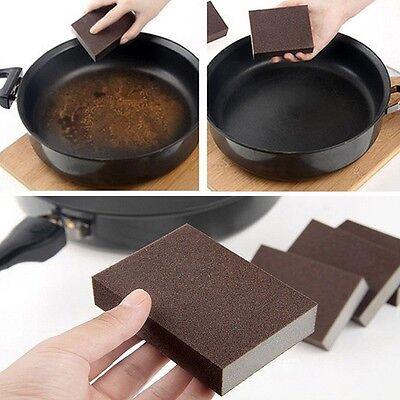 Cleaning Sponge Carborundum Brush Dish Wash Clean Pad Rust Remover Kitchen Tool