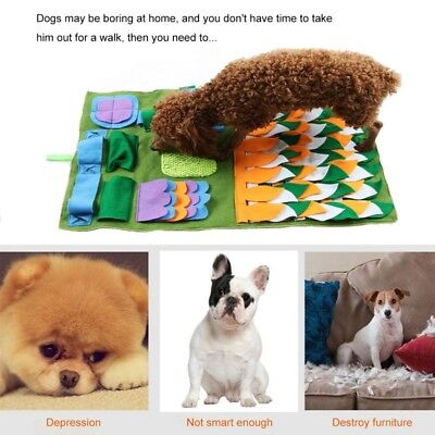 Snuffle Mat Dog Pet Toy Nose Work Training Game Sniffing Puzzle Washable Pad Bed