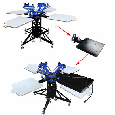 Techtongda Screen Printing Machine3 Color 4 Station With Flash Dryer Kit New