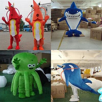 2019 Hot Shark Dolphin Mascot Costume Halloween Birthday Party Fancy Dress - Dolphin Fancy Dress Costume