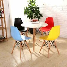 Ensemble de 4 chaises rétro design eiffel bois dinant la chaise noir / blanc