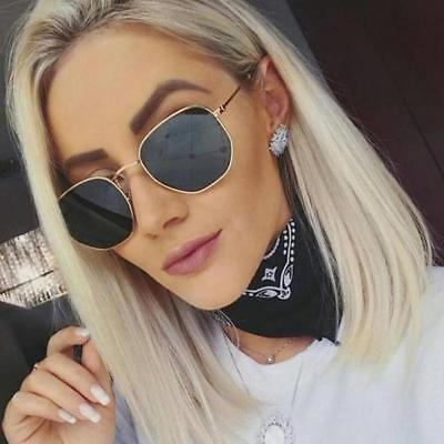 Brand Classic Hexagon Sunglasses Women Men Vintage Gradient Mirror Rays Eyewear