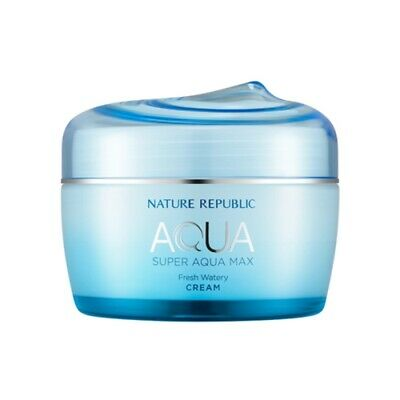 Nature Republic Super Aqua Max Fresh Watery Cream Korean Skincare Cosmetic 80ml