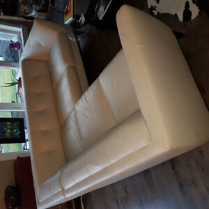 Natuzzi section and chair/foot stool