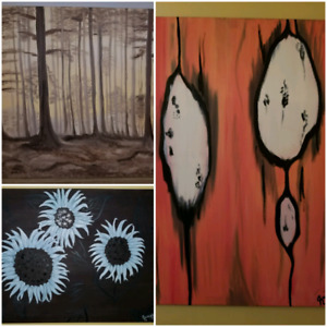 3 OIL painting canvases Meduim-Large size.