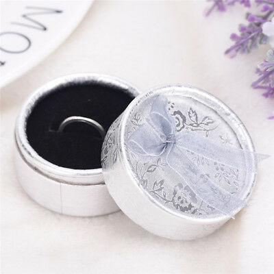 Lace Bow Tie Round Paper Velveteen Cardboard Ring Box Jewelry Accessories CaseSP - Round Cardboard Boxes