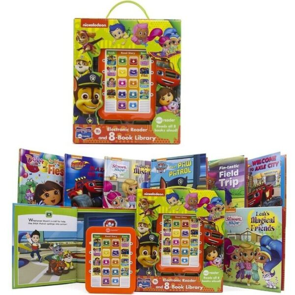 Me Reader Electronic 8-Book Library PAW Patrol, Shimmer and Shine, Blaze and the Monster Machines