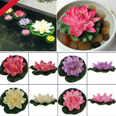 Künstliche schwimmende Lotus Seerose Aquarium Decor Ornament UE