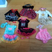 0-3 Month Dresses/Tutu's/head and foot bands