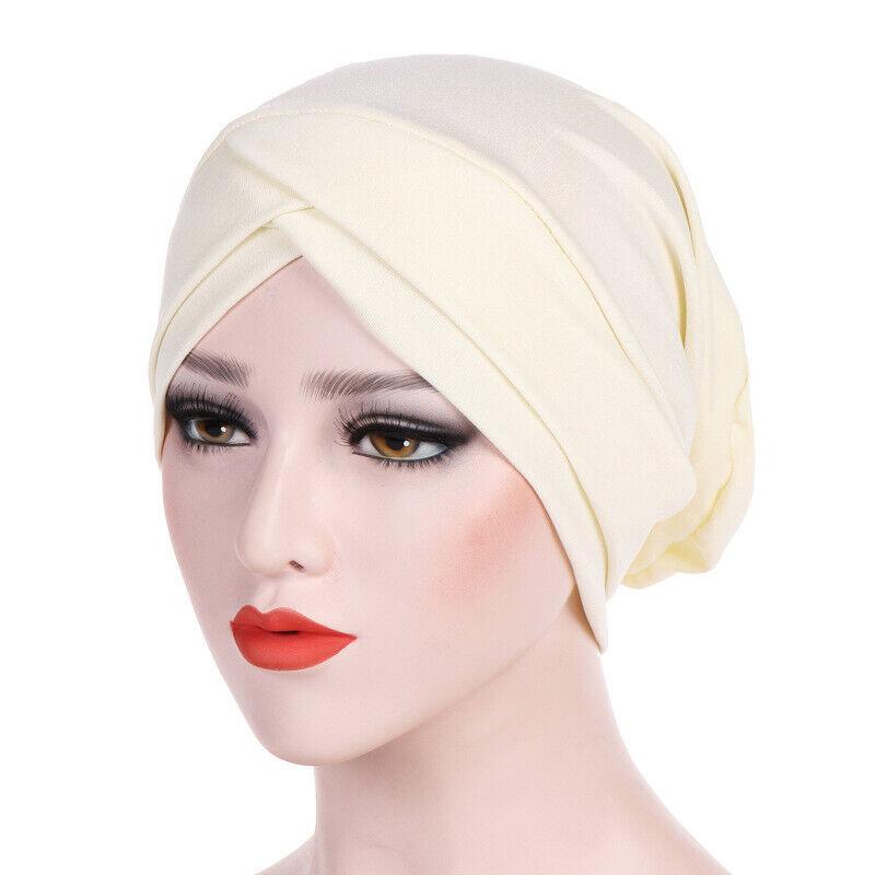 Women Plain Bonnet Tube Hijab Cap Muslim Head Under Bone Soft Turban Headwrap Clothing, Shoes & Accessories