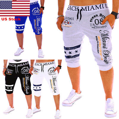 US Men Summer Casual Sports Shorts Cropped Pants Beach Trousers Trunks Fashion