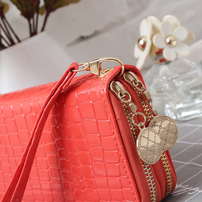 Fashion Women Wallet Large Capacity Clutch Purse Card Phone Holder Zip Handbag Clothing, Shoes & Accessories
