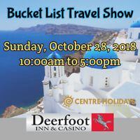 Bucket List Travel Show YYC Sun Oct 28 @ Deerfoot Inn & Casino