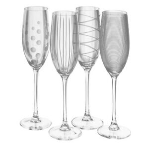 Creative Tops Mikasa Cheers Crystal Champagne Flute Glasses