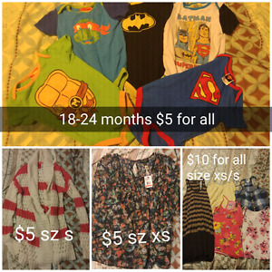 infant and womens clothing and picture frame