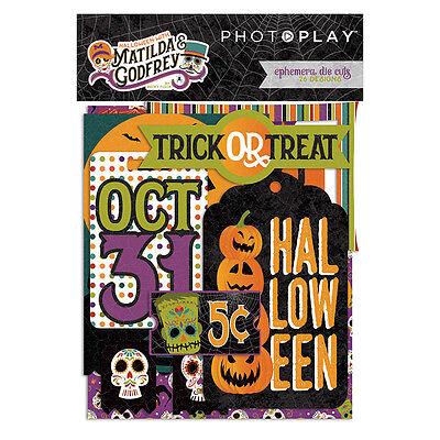 Photo Play Matilda & Godfrey Ephemera Die Cut Shapes Halloween Day Of the Dead