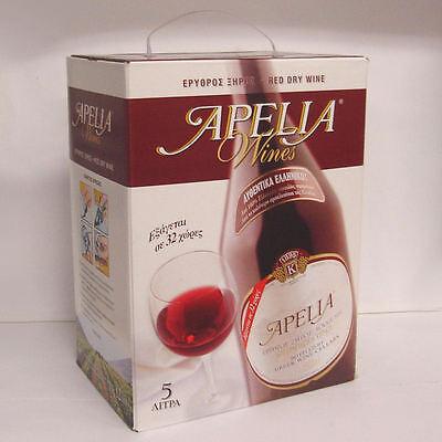 Greek Wine Cellars Kourtaki Apelia 5l Rotwein trocken Bag in Box mit Zapfhahn