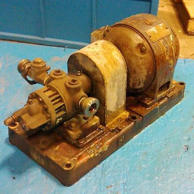 Roper Rotary Pump 2e10 27b4 W General Electric .5hp Motor 5k203e1879