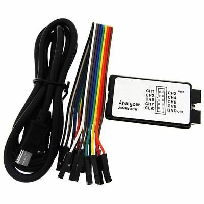 Us 24mhz 8 Ch Usb Analyzer Saleae 8 Channel Logic Analyzer For Mcu Arm-fpga .