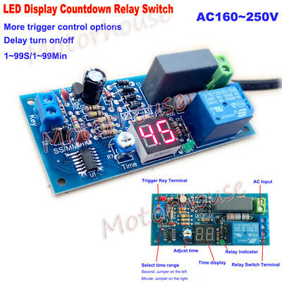 Ac 220v 230v Trigger Countdown Delay Time Turn Onoff Timer Relay Switch Module