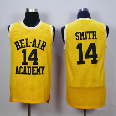 14 Will Smith Yellow Jersey Stitched The Fresh Prince Of Bel Air Academy Jersey
