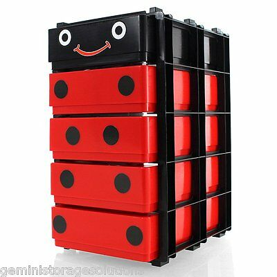 5 x A5 Storage Boxes In A Stak/Drawer Tower Bug Box Stak