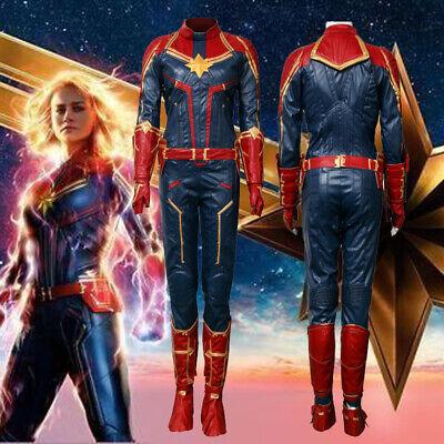 Ms Marvel Costume Captain Marvel Carol Danvers Cosplay Halloween Leather - Ms Marvel Costume