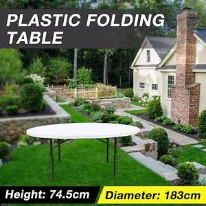 183cm Commercial Folding Round Table 74.5cm High White Granite Dandenong South Greater Dandenong Preview