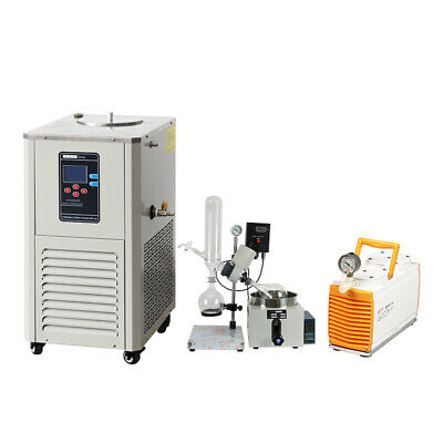 2l Rotary Evaporator Complete Turnkey Wptfe Diaphragm Vacuum Pump Chiller
