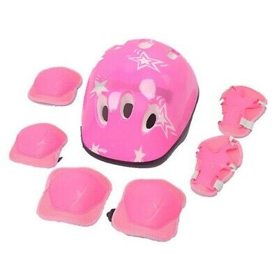 6/7Pcs Kids Sport Skating Protective Gear Set Safety Pad Helmet Knee Elbow Wrist