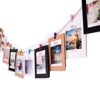 10pc 3/5/6/7inch Wimpelkette Wimpelgirlande Fotorahmen Kraftpapier mit Seil Clip