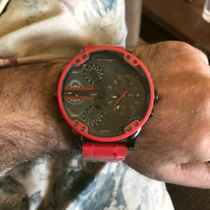 Diesel red watch for men