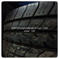 205 70 15 SETS OF 4 75%tREAD