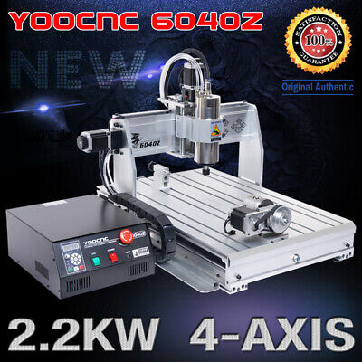 Usa2.2kw 4 Axis 6040 Usb Mach3 Cnc Engraving Drilling Mill Router Machine 110v