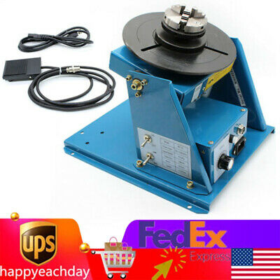 10kg Rotary Welding Positioner Turntable Table 2.5 3 Jaw Chuck 110v 2-10 Rmin