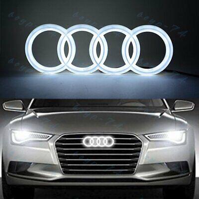 White For Audi Grill Grille Front Hood A3 A4 A5 A6 A7 Q3 Q5 Q7 LED Emblem 28CM