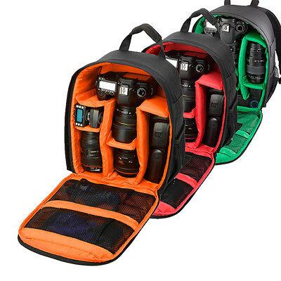 Small DSLR Camera Backpack Insert Travel Shoulder Bag Rucksack For Canon Nikon