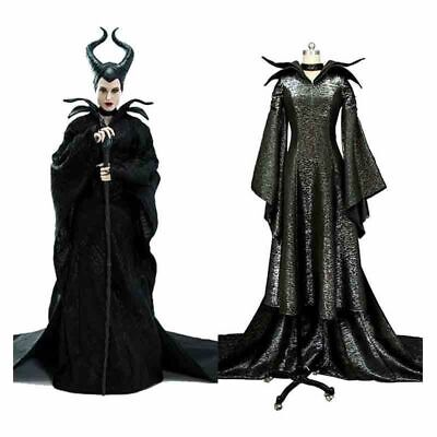 Maleficent Deluxe Evil Queen Adults Cosplay Costume Outfit Fancy Dress - Maleficent'deluxe Adult Kostüm