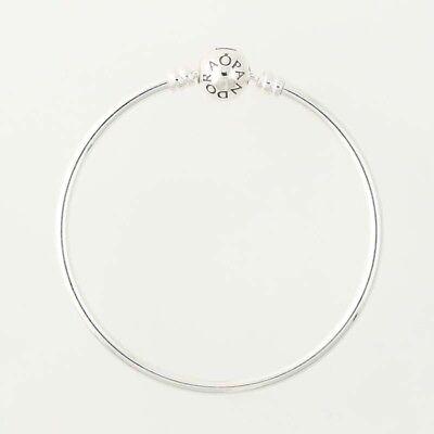 "NEW Pandora Classic Bangle Charm Bracelet - Sterling Silver 590713-17 6.7"""