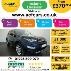 image for 2016 BLUE LAND ROVER DISCOVERY SPORT 2.0 TD4 HSE LUXURY CAR FINANCE FR £370 PCM